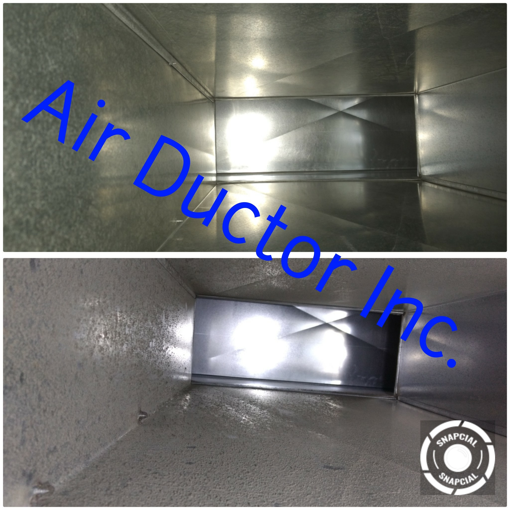 Cleaned air ducts from Air Ductor
