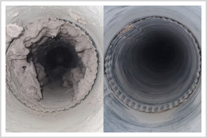 Dryer Vent Cleaning Before & After